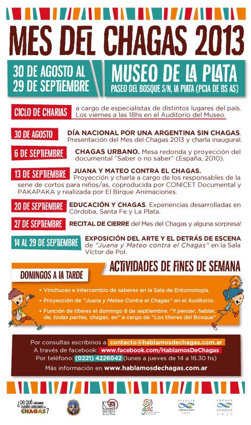 Mes del Chagas 30 de Agosto al 29 de Setiembre