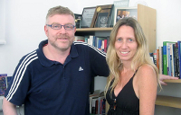 Gabriel Rabinovich, investigador superior y Mariana Salatino, investigadora adjunta del CONICET